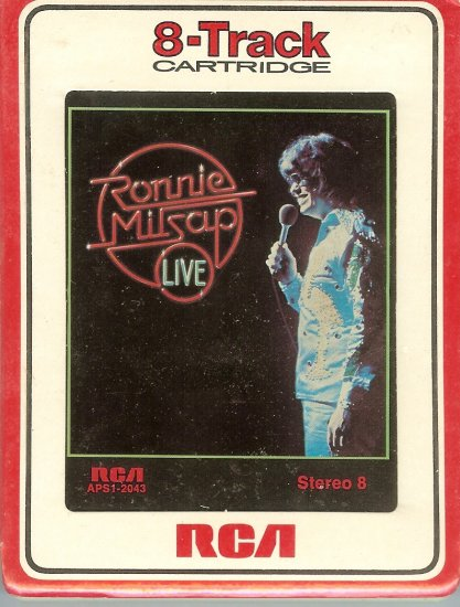Ronnie Milsap - Live RCA Sealed 8-track tape
