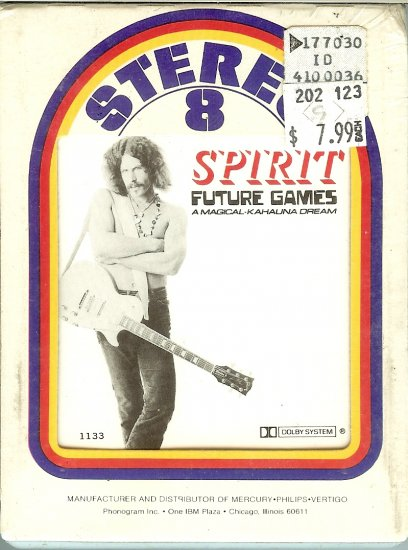 Spirit - Future Games A Magical Kahalina Cream Sealed 8-track tape