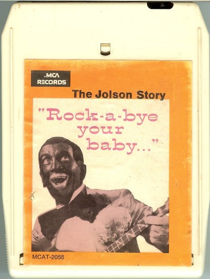 """Al Jolson - The Jolson Story """" Rock-a-bye your baby..."""" 8-track tape"""