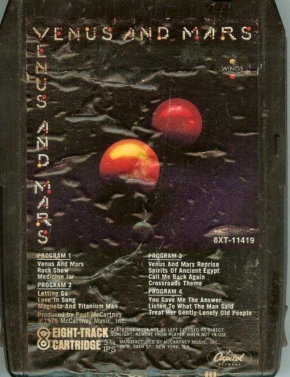 Paul McCartney & Wings - Venus and Mars 1975 CAPITOL 8-track tape