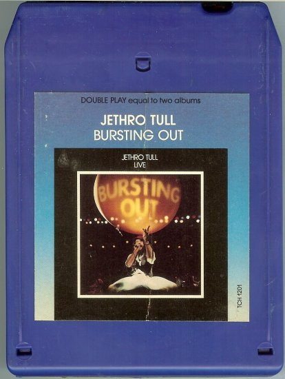 Jethro Tull - Bursting Out Live 1978 CHRYSALIS 8-track tape