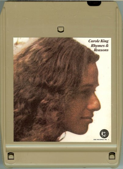 Carole King - Rhymes & Reasons 1972 A&M ODE 8-track tape