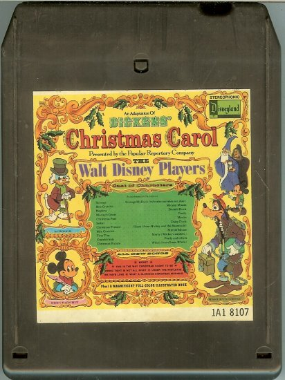 Walt Disney Productions - Adaptation of Dickens' Christmas Carol 1974 DISNEY 8-track tape