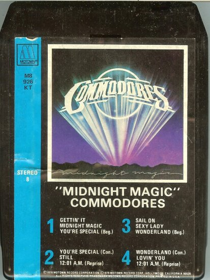 Commodores - Midnight Magic 1979 MOTOWN 8-track tape