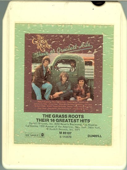 The Grass Roots - Their 16 Greatest Hits 8-track tape