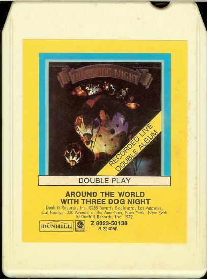 Three Dog Night - Around The World With Three Dog Night 1973 RCA ABC 8-track tape