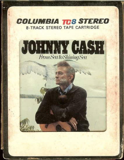 Johnny Cash - From Sea To Shining Sea 1968 CBS TC8  8-track tape