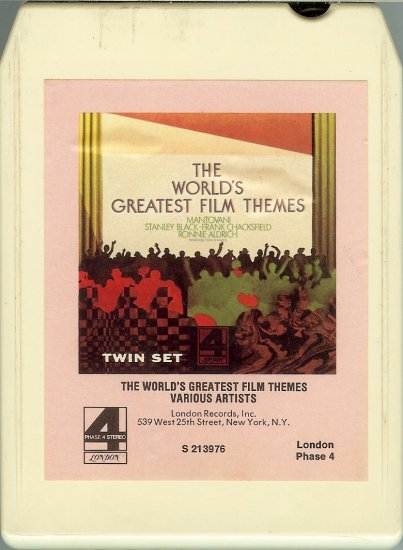 The World's Greatest Film Themes - Various Artists Phase 4 Stereo 8-track tape