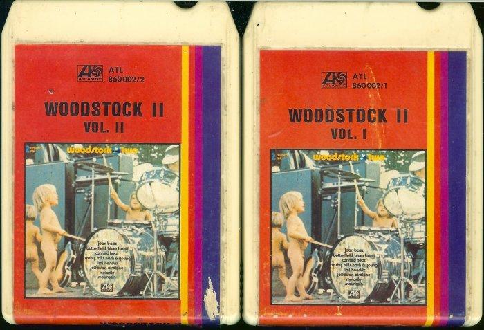 Woodstock II - Volumes I & II Atlantic 8-track tape