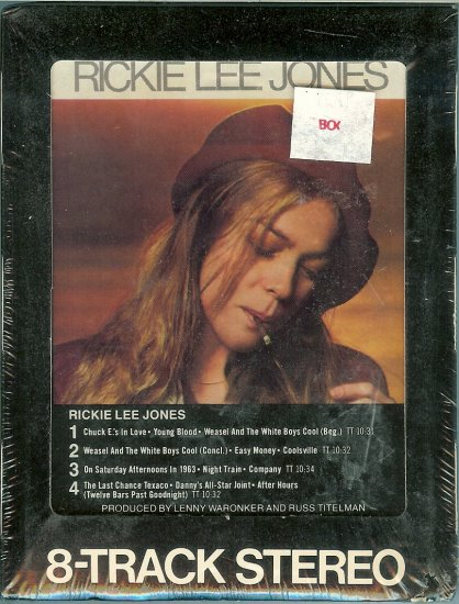 Rickie Lee Jones - Rickie Lee Jones Sealed 8-track tape