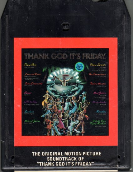 Thank God It's Friday - Part 1 Original Motion Picture Score 8-track tape