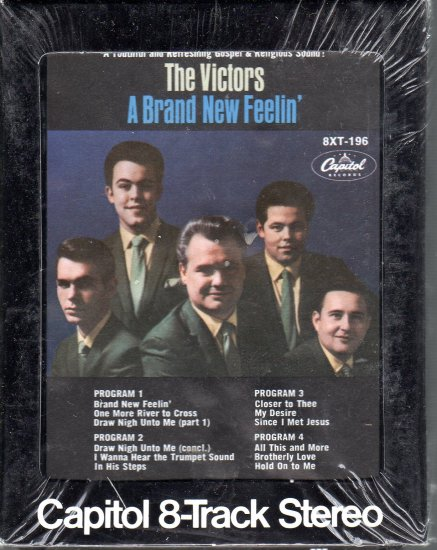 The Victors - A Brand New Feelin' Sealed 8-track tape