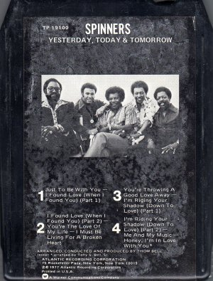 Spinners - Yesterday, Today & Tomorrow 8-track tape