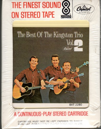 The Kingston Trio - The Best Of Volume 2 1965 CAPITOL Sealed 8-track tape