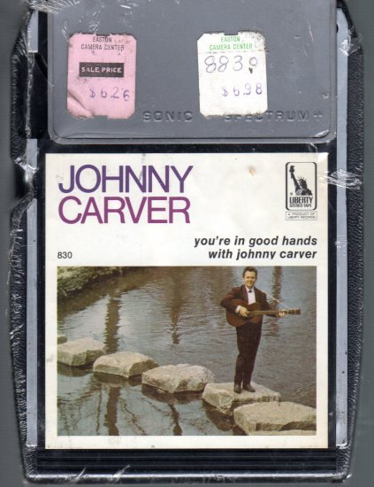Johnny Carver - You're In Good Hands Sealed 8-track tape