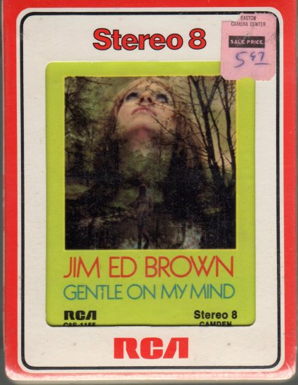 Jim Ed Brown - Gentle On My Mind Sealed 8-track tape