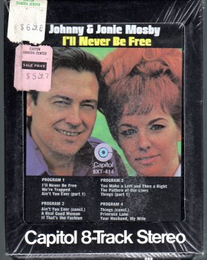 Johnny & Jonie Mosby - I'll Never Be Free Sealed 8-track tape