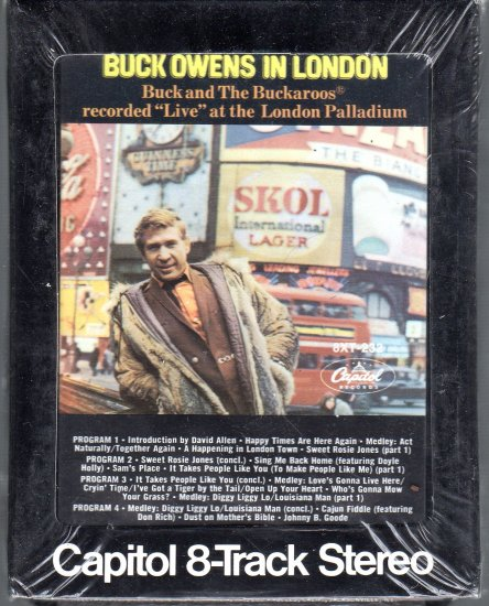 """Buck Owens - In London """" Live """" at the London Palladium Sealed 8-track tape"""