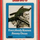 Jimmy Dean - Everybody Knows Jimmy Dean Sealed 8-track tape