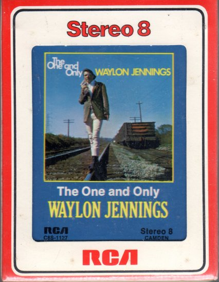 Waylon Jennings - The One and Only Sealed 8-track tape