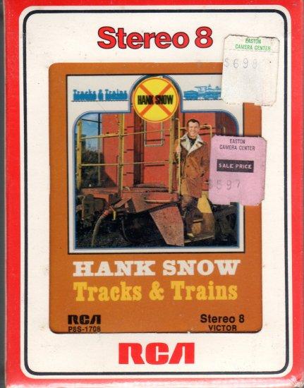 Hank Snow - Tracks & Trains Sealed 8-track tape