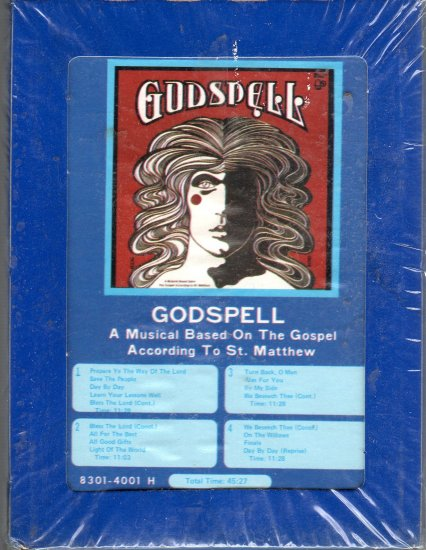 Godspell - A Musical Based On The Gospel According To St. Matthew Sealed 8-track tape