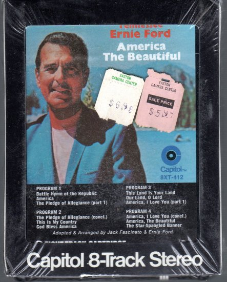 Tennessee Ernie Ford - America The Beautiful Sealed 8-track tape