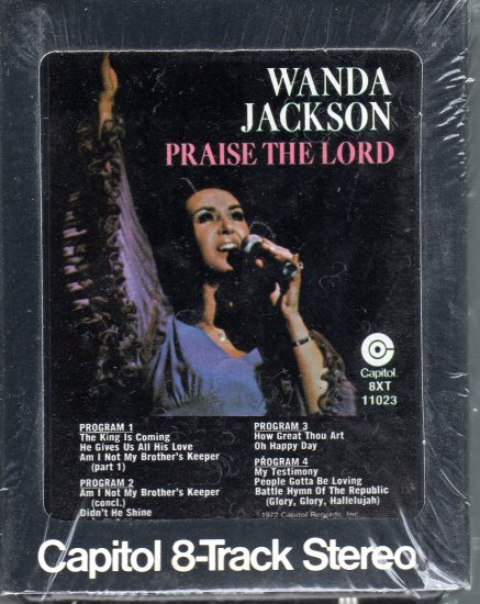 Wanda Jackson - Praise The Lord Sealed 8-track tape