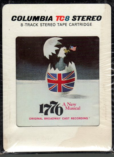 1776 - A New Musical Soundtrack Sealed 8-track tape