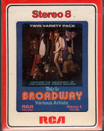 This Is Broadway - Various Artists Sealed 8-track tape