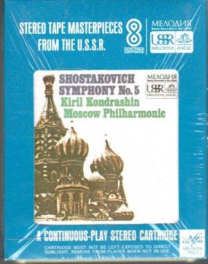 Kiril Kondrashin & Moscow Philharmonic - Shostakovich Symphony No. 5 Sealed 8-track tape
