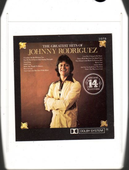 Johnny Rodriguez - Greatest Hits 8-track tape