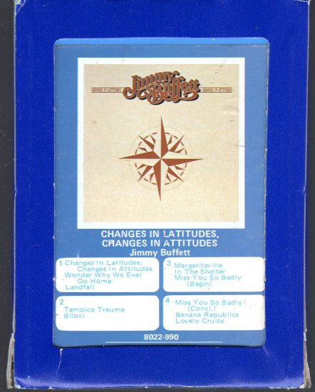 Jimmy Buffett - Changes In Latitudes, Changes In Attitudes 1977 GRT MCA A16 8-track tape