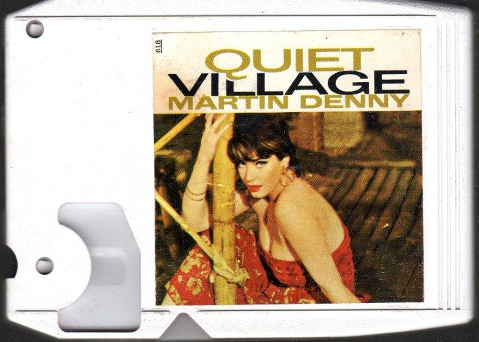 Martin Denny - Quiet Village White Cart Liberty 8-track tape