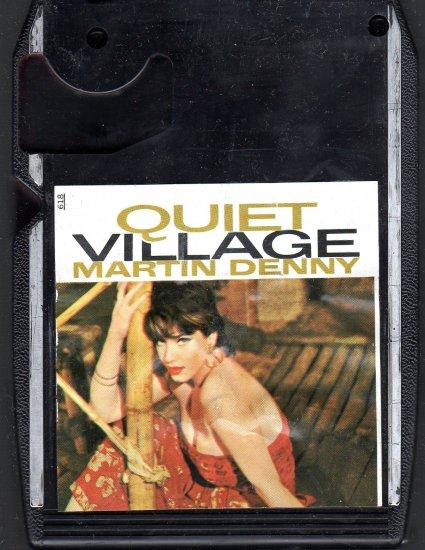 Martin Denny - Quiet Village Black Cart  Liberty 8-track tape