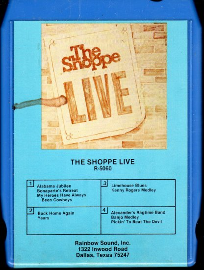 The Shoppe - The Shoppe Live 8-track tape