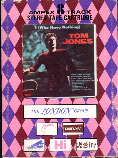 Tom Jones - I Who Have Nothing Ampex 8-track tape