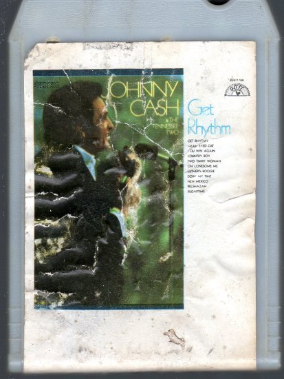 Johnny Cash and The Tennessee Two - Get Rhythm Sun Gusto 8-track tape