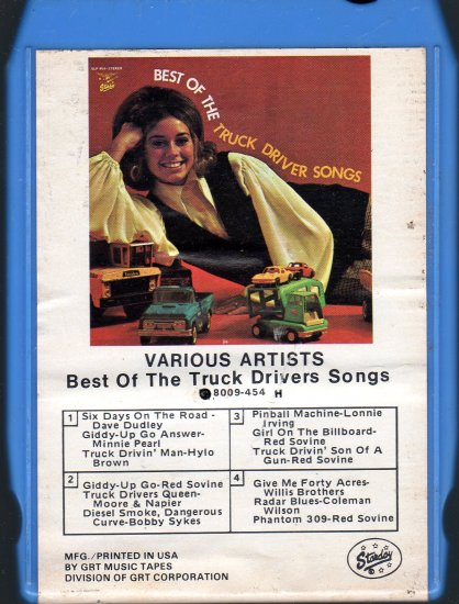 Best Of The Truck Drivers Songs - Various Artists 8-track tape