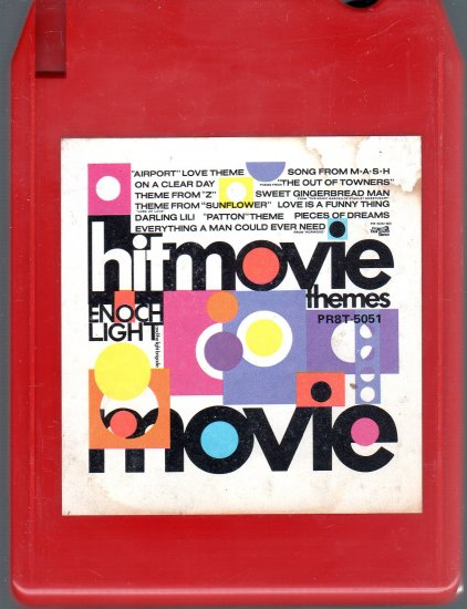 Enoch Light And The Light Brigade - Big Hit Movie Themes Quadraphonic Project 3 8-track tape