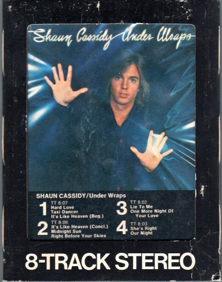 Shaun Cassidy - Under Wraps 8-track tape