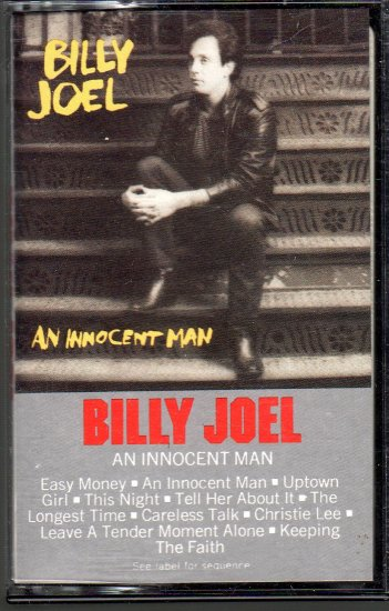 Billy Joel - An Innocent Man Cassette Tape