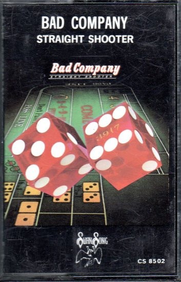 Bad Company - Straight Shooter Cassette Tape