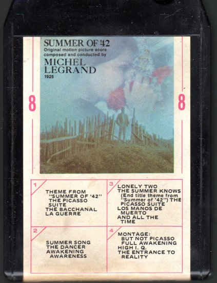 Michel LeGrand - Summer Of '42 Original Motion Picture Soundtrack Ampex 8-track tape