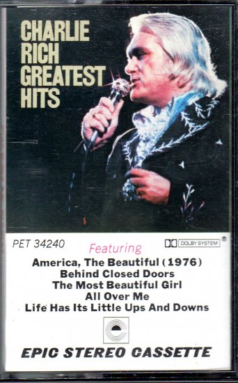 Charlie Rich - Greatest Hits Cassette Tape