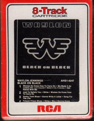 Waylon Jennings - Black On Black 1982 RCA Sealed A8 8-track tape