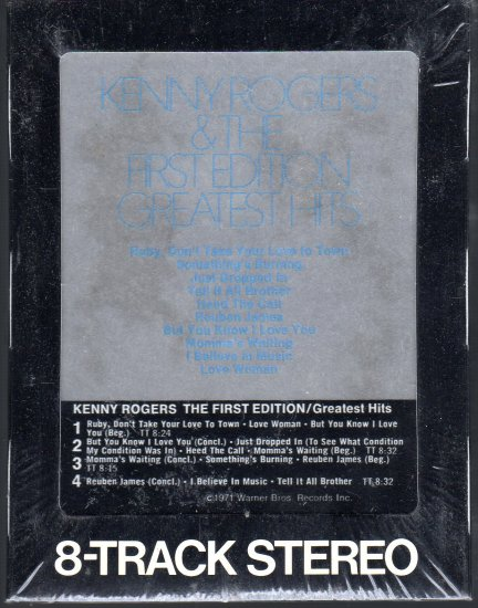 Kenny Rogers & The First Edition - Greatest Hits 1971 WB Sealed 8-track tape