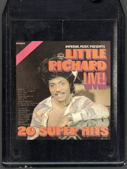 Little Richard - Little Richard Live 20 Super Hits Imperial 8-track tape