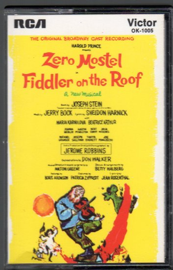 Fiddler On The Roof - Original Broadway Cast Recording Cassette Tape