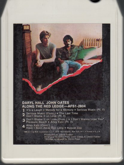 Daryl Hall & John Oates - Along The Red Ledge 1978 RCA 8-track tape
